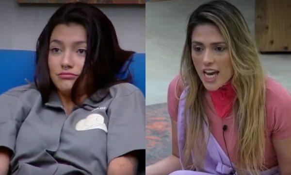 A Fazenda 10: Gabi Prado e Nadja brigam em intervalo de programa ao vivo e deixam Mion com medo! Veja vídeo