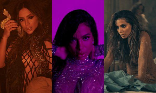 """Cobras e beijos múltiplos! Anitta ARRASA nos clipes de """"Veneno"""", """"Goals"""" e """"Não Perco Meu Tempo""""; vem ver tudo!"""