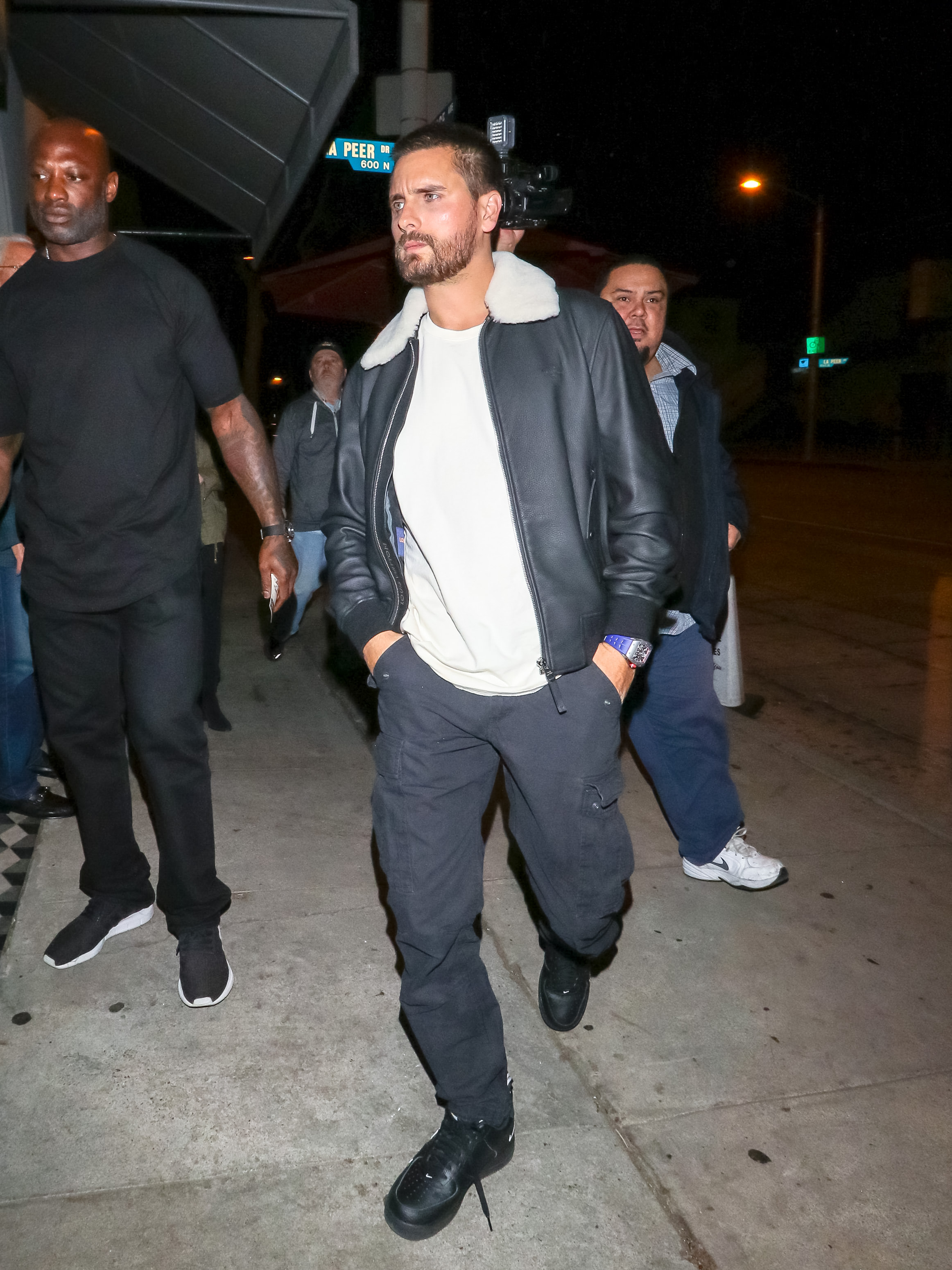 Celebrities Outside Craigs Restaurant In Los Angeles