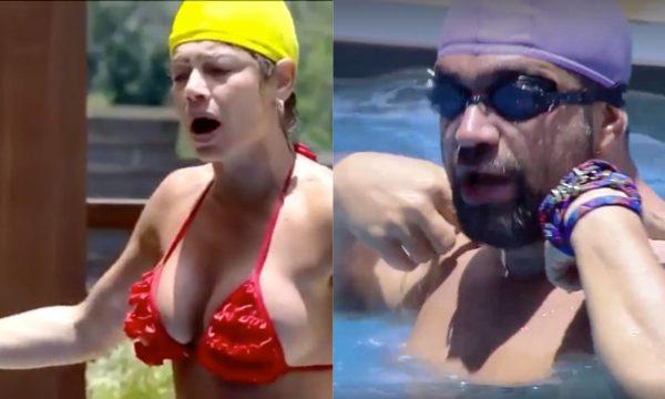 A Fazenda 10: Catia Paganote se irrita durante jogo de aquabol, dá tapa em Evandro Santo e internautas pedem sua expulsão; assista ao vídeo!