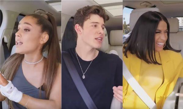 Ariana Grande, Cardi B, Shawn Mendes e mais arrasam no 'Carpool' especial de Natal! Vem assistir!