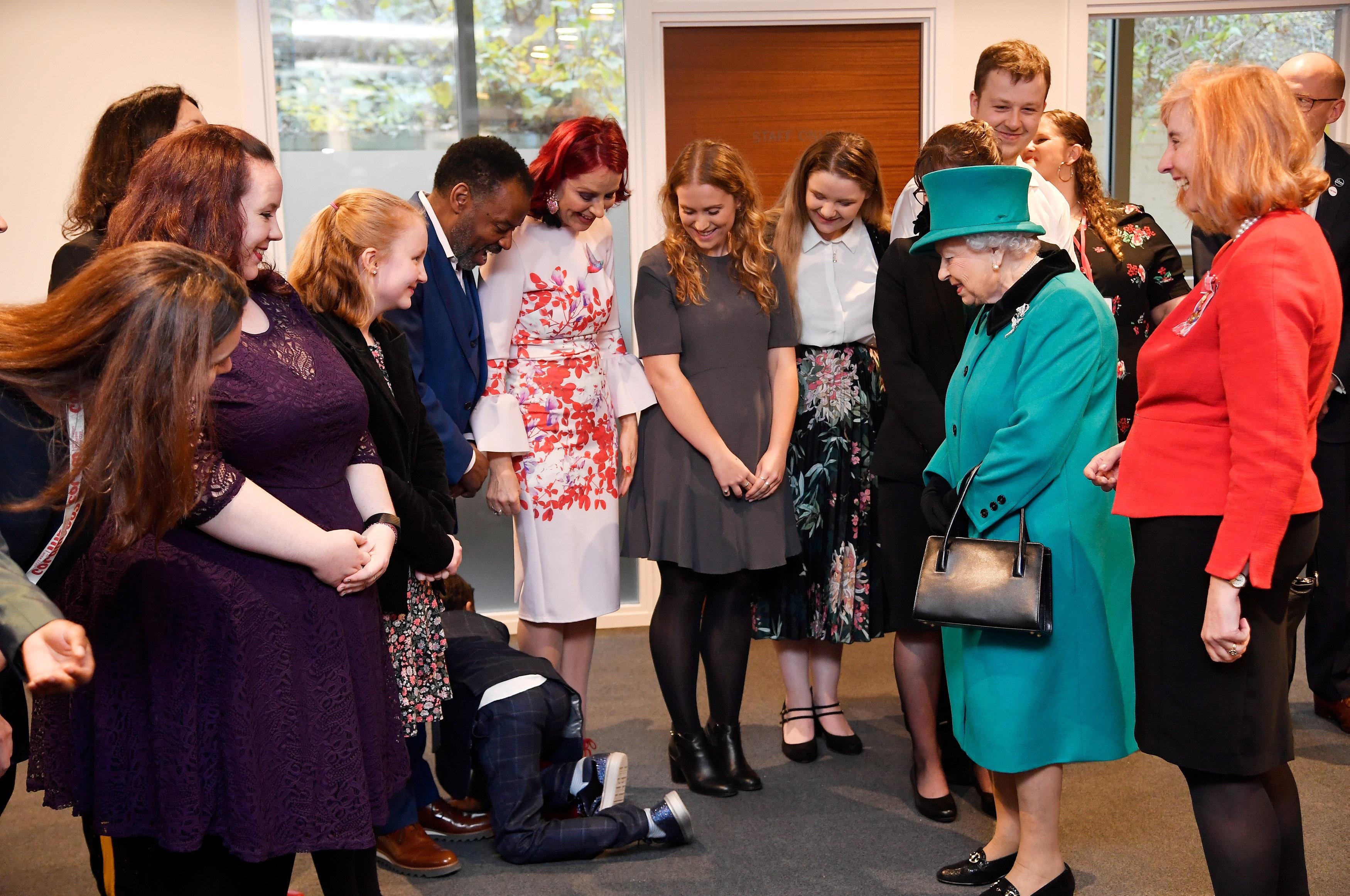 The Queen Opens Coram's Queen Elizabeth II Centre