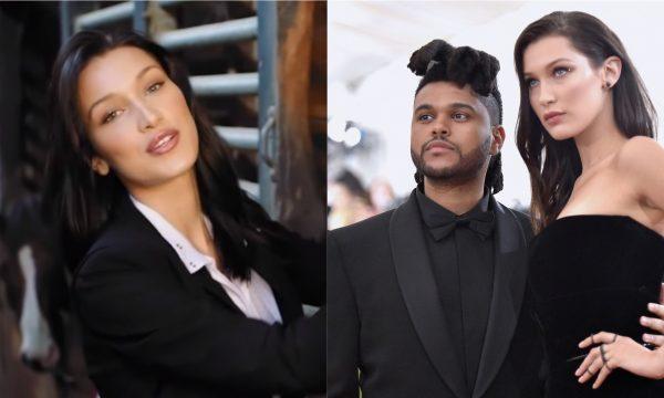 """Em vídeo, Bella Hadid declara amor por The Weeknd e diz que ele é a """"pessoa mais bonita"""" que ela conhece; assista"""