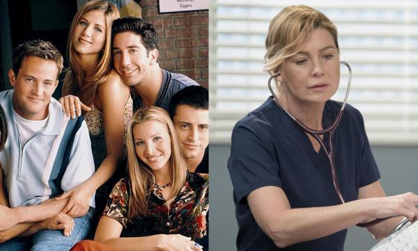 """""""Friends"""" e """"Grey's Anatomy"""" são as duas séries mais maratonadas do ano, revela estudo"""