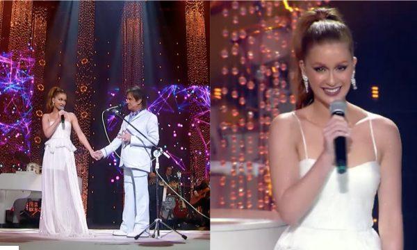 """LINDO! Marina Ruy Barbosa se emociona ao cantar """"Na Paz Do Seu Sorriso"""" com o rei Roberto Carlos; assista!"""