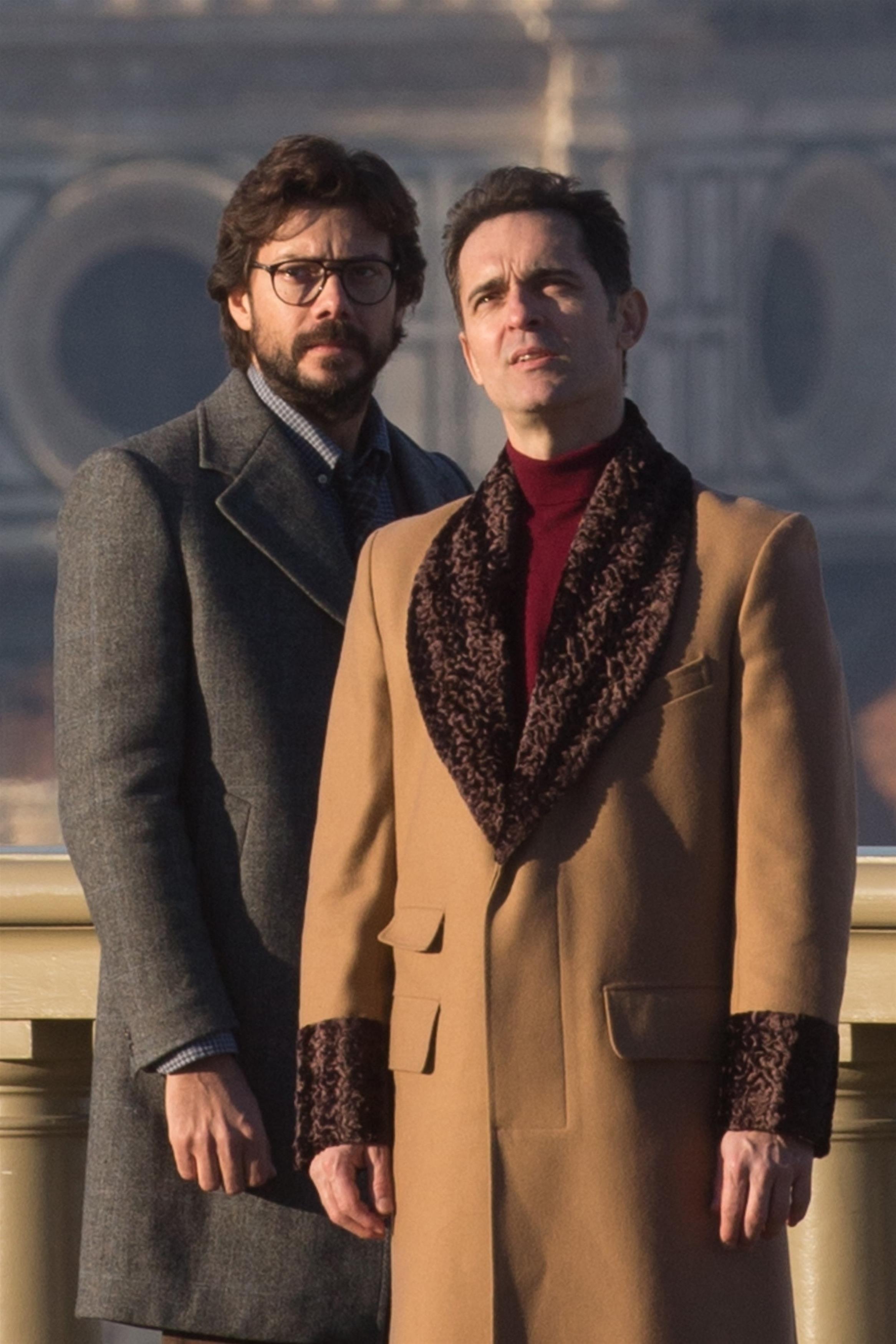 The cast of 'La Casa De Papel' is seen filming in Florence