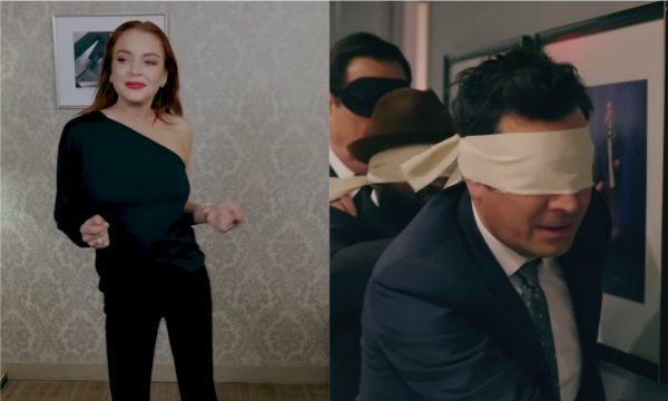Lindsay Lohan surpreende em paródia de 'Bird Box' com Jimmy Fallon e desfecho 'viral'; vem assistir!