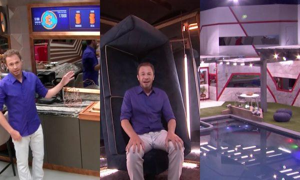 """Tiago Leifert mostra casa do 'BBB 19', inspirada em milionário excêntrico: """"Muito louca"""""""