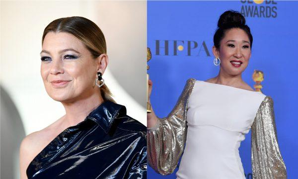 Ownn! Ellen Pompeo reage a foto de Sandra Oh sobre noite histórica no 'Globo de Ouro 2019'