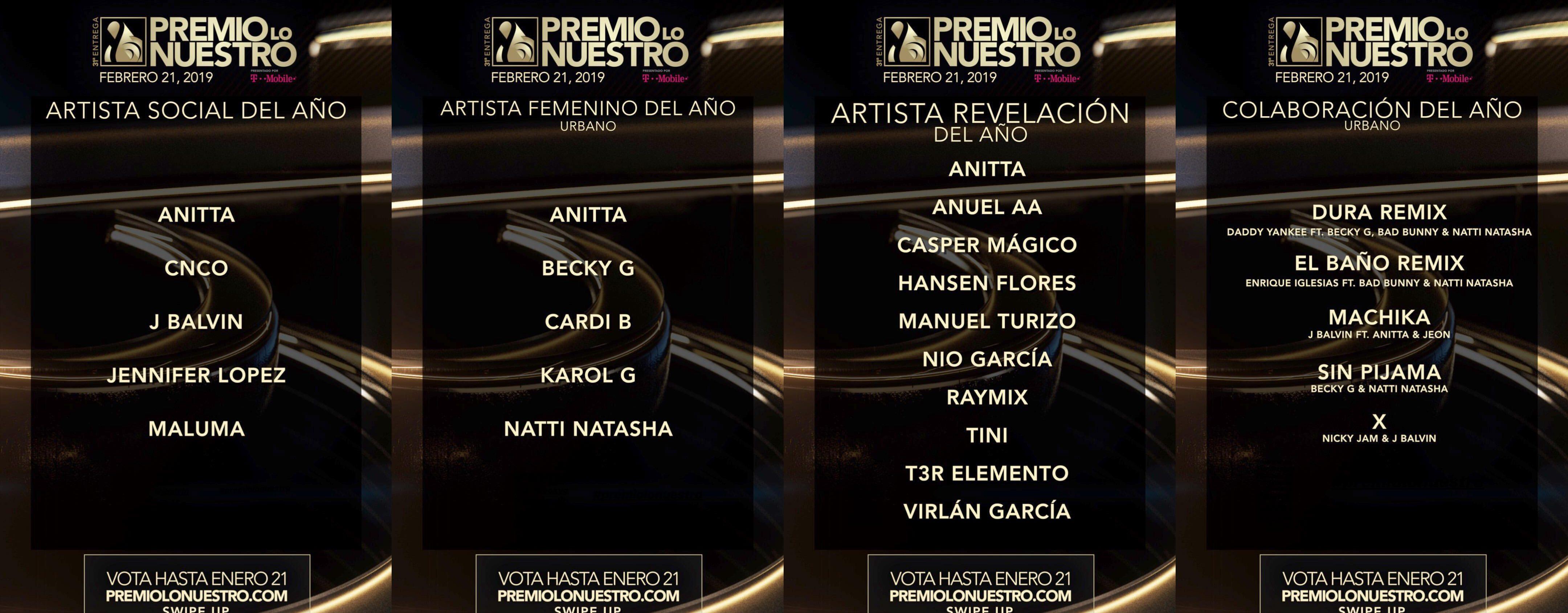 Anitta é indicada em quatro categorias do Premio Lo Nuestro 2019