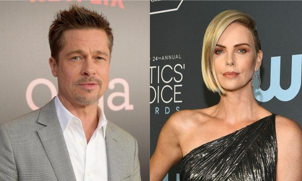 """Novo casal? Brad Pitt e Charlize Theron estão """"passando o tempo juntos"""", diz revista People"""
