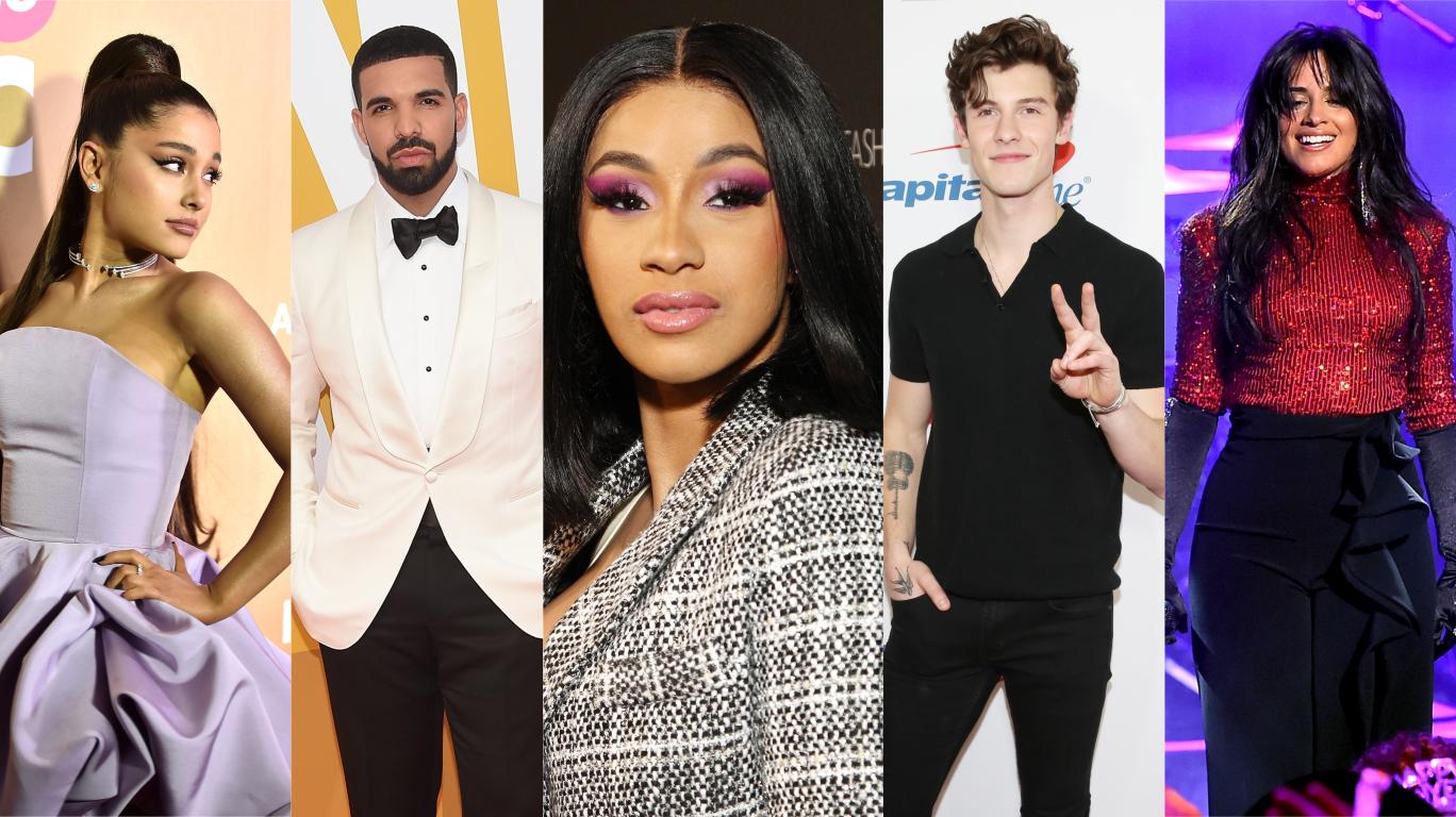 Cardi B, Drake, Ariana Grande, Shawn Mendes e Camila Cabello indicados ao iHeart Radio Music Awards 2019