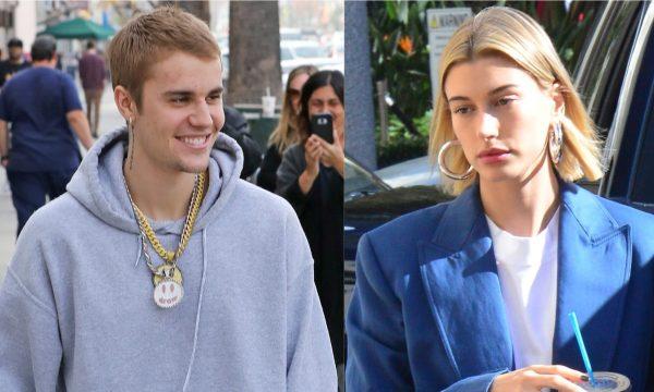 """Justin e Hailey Bieber enviam mensagens de """"salve a data"""" para festa de casamento, diz site"""