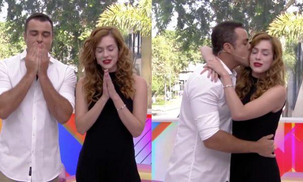 Sophia Abrahão chora ao encerrar o último 'Vídeo Show' da história, ao lado de Joaquim Lopes; assista