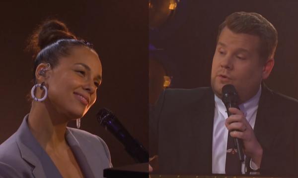 """Alicia Keys arrasa na voz e no piano em paródia maravilhosa de """"Shallow"""" com James Corden; assista!"""