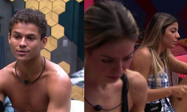 """BBB 19: Danrley acredita que será o próximo alvo de Paula e Hariany, e dupla prepara nova estratégia: """"Tapa de luva nas pessoas"""""""