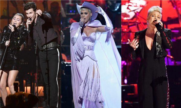 Shawn Mendes e Miley Cyrus fazem dueto lindo em homenagem a Dolly Parton; Katy Perry e P!nk também arrasam nas performances!