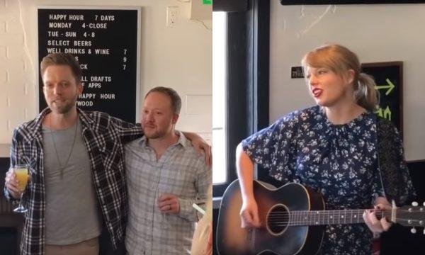 "OMG! Taylor Swift aparece de surpresa em festa de noivado de fãs e canta ""King of My Heart""; assista!"