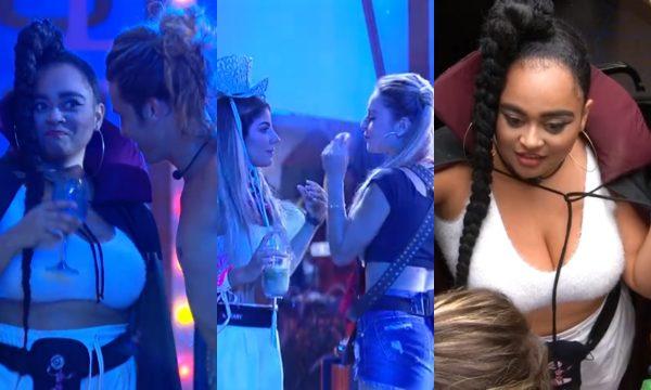 BBB 19: Tarzan beija Rízia na festa; situação gera briga entre Hariany e Paula, e especulação sobre sexualidade do italiano; veja vídeos