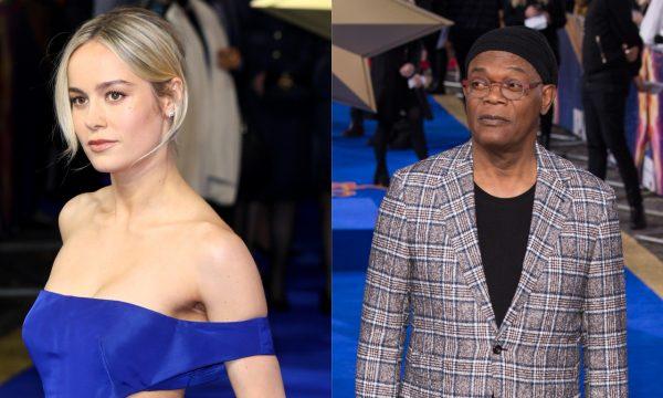 """Brie Larson faz cover hilário de """"Shallow"""" ao lado de Samuel L. Jackson; vem assistir!"""