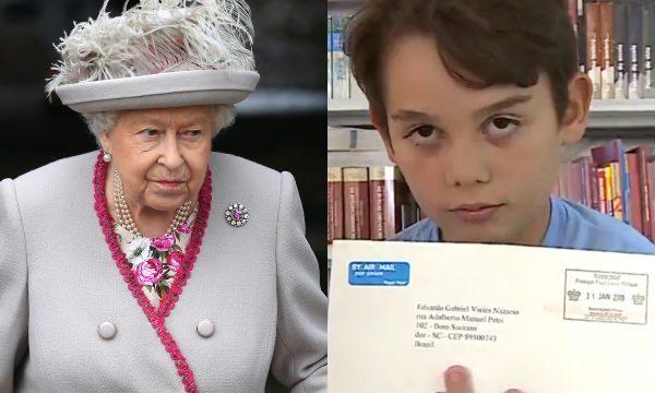 Garotinho brasileiro de 12 anos escreve carta para rainha Elizabeth II e recebe resposta; vem ver!