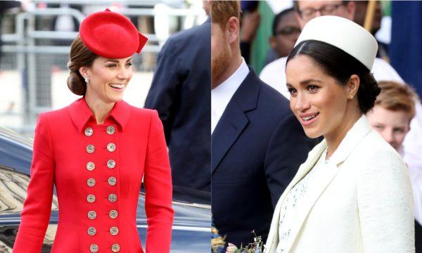 Em meio a rumores de rixa, Meghan Markle e Kate Middleton compartilham gesto amigável em cerimônia; confira!