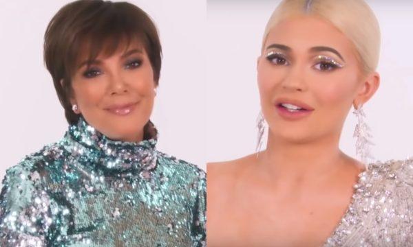 De filha pra mãe! Kylie Jenner faz tutorial de maquiagem para ensinar Kris Jenner a ter lábios iguais aos seus; assista!