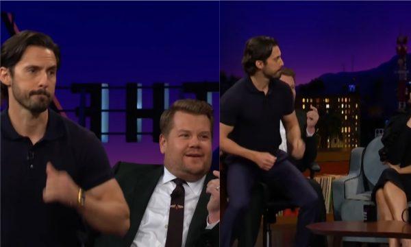 Sexy! Milo Ventimiglia faz lapdance em James Corden e nos deixa boquiabertos! Assista