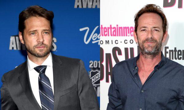 """Intérprete de Brandon em """"Barrados no Baile"""", Jason Priestley lamenta morte de Luke Perry com linda mensagem: """"Amigo querido há 29 anos"""""""