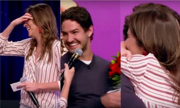 Vídeo: Alexandre Pato surpreende Rebeca Abravanel com flores no 'Roda a Roda', explica gesto e deixa apresentadora envergonhada! Vem assistir