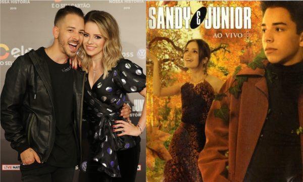 Vídeo: Sandy e Junior adotam ritual de fãs e 'trocam' a capa do CD 'As Quatro Estações' para 'oficializar' a chegada do outono; vem ver!
