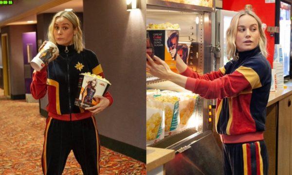 """Brie Larson surpreende fãs e ajuda a servir pipocas em sessão de """"Capitã Marvel""""; vem ver!"""