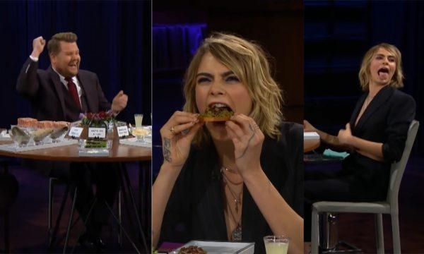 Cara Delevingne se recusa a responder qual pessoa mais famosa deu em cima dela, e tem de comer insetos; vem ver!