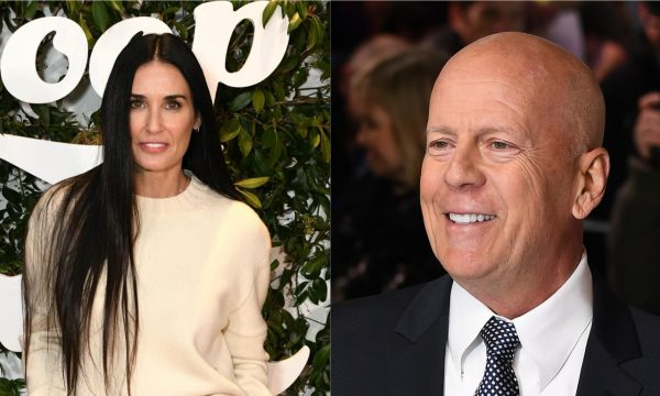 Demi Moore comparece a aniversário de casamento do ex-marido, Bruce Willis, e tira foto com a família; confira