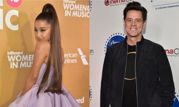 """Após menção de Ariana Grande, Jim Carrey responde post sobre depressão da cantora e ela se surpreende: """"Não consigo processar"""""""