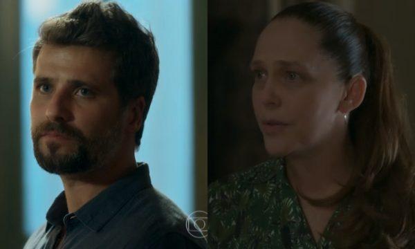 """O Sétimo Guardião: Judith levanta suspeitas, enfrenta Gabriel e é ameaçada: """"Te demito!"""""""