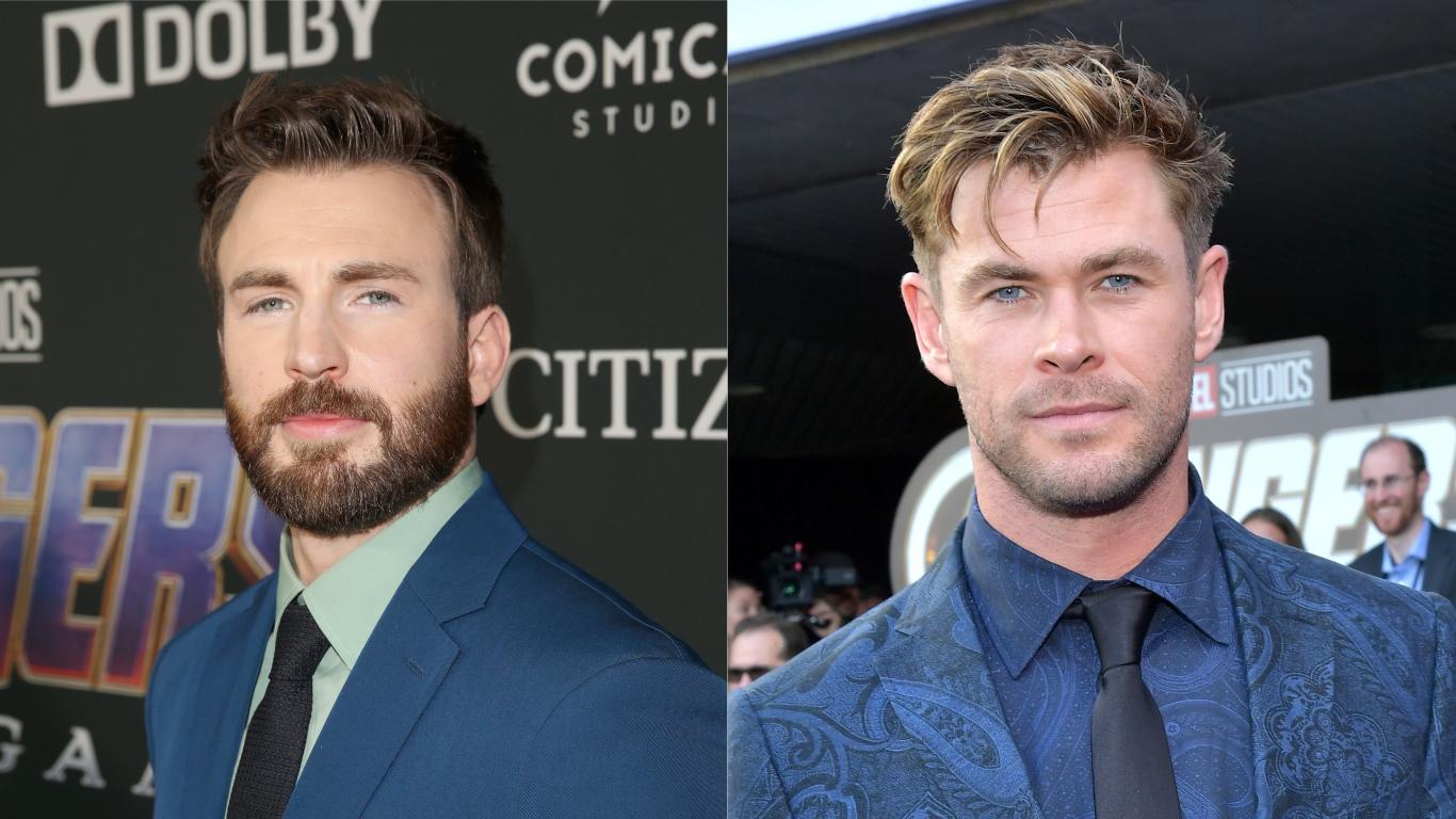 Primeiro encontro de Chris Hemsworth e Chris Evans foi em uma balada e durou a noite inteira: 'Não lembro dos detalhes'>