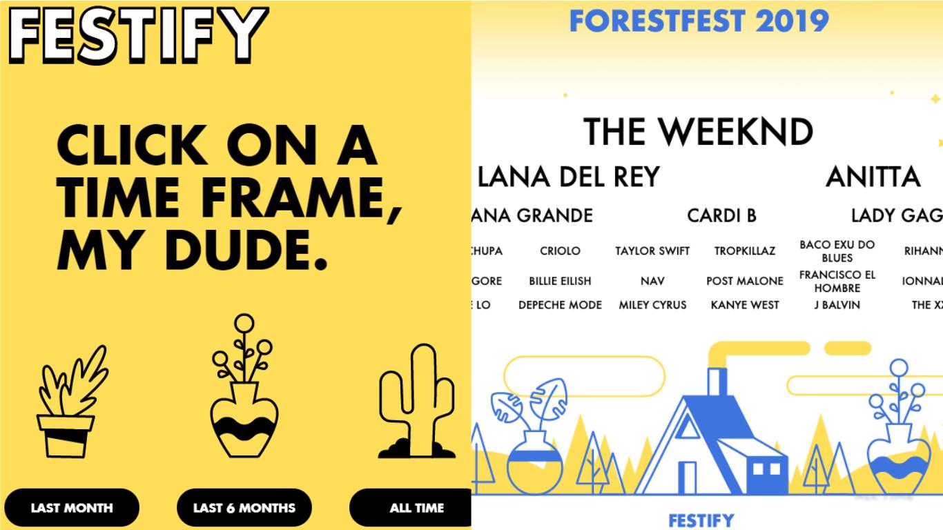 Amei! Aplicativo cria line-up de festival baseado nos