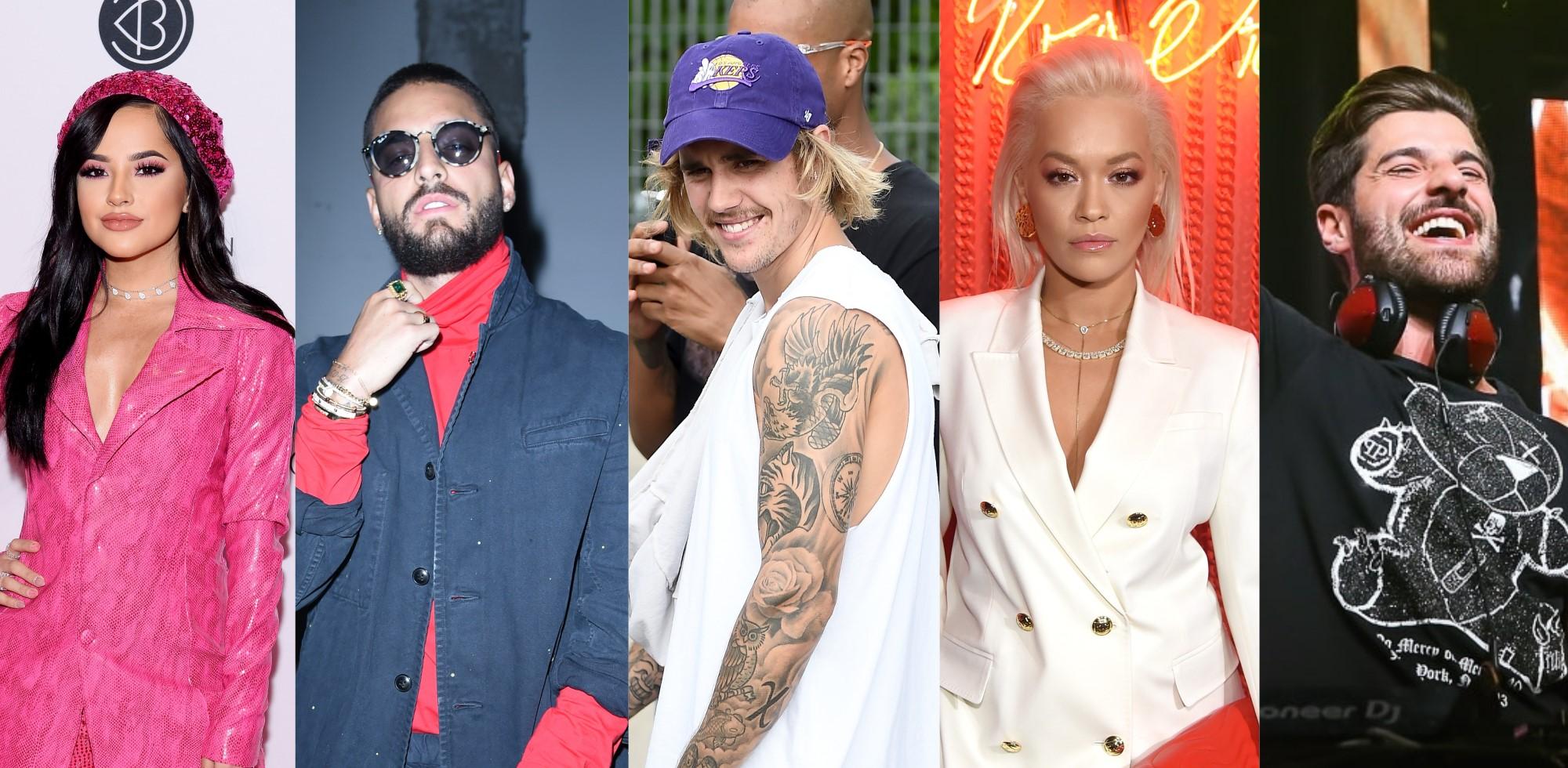 """Parceria de Lil Dicky com Justin Bieber e vários artistas; novo single de Alok com Steve Aoki; feat dançante de Becky G e Maluma e muito mais nos """"Lançamentos de Sexta"""">"""