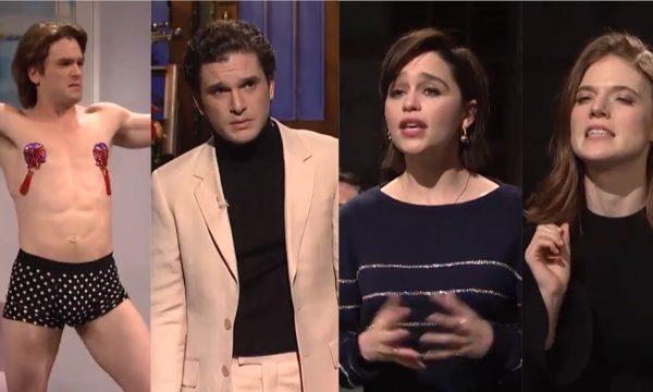 """""""SNL"""": Kit Harington fica de cueca; brinca sobre spoilers de """"GoT"""" e responde a perguntas hilárias de colegas de elenco"""