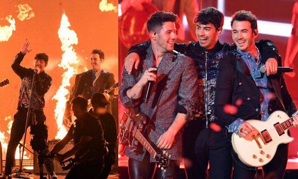 """BBMA 2019: Meninos do Jonas Brothers relembram hits de carreiras solo e incendeiam premiação ao som de """"Sucker"""""""