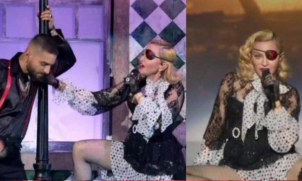 """BBMA 2019: Madonna faz retorno triunfal com apresentação grandiosa e sexy de """"Medellín"""" ao lado de Maluma"""