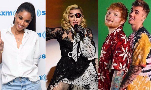 """Single mara de Justin Bieber e Ed Sheeran; parceria de Madonna e Swae Lee; álbum novo de Ciara e versão remix do hinário de Pabllo Vittar são destaques no """"Lançamentos de Sexta"""""""