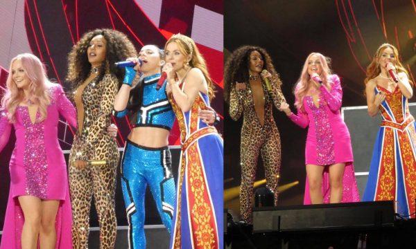 Com grandes hits, Spice Girls inicia turnê de reunião do grupo e Mel B se manifesta sobre problemas técnicos com som; veja vídeos da estreia
