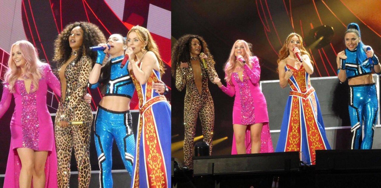 Com grandes hits, Spice Girls inicia turnê de reunião do grupo e Mel B se manifesta sobre problemas técnicos com som; veja vídeos da estreia>