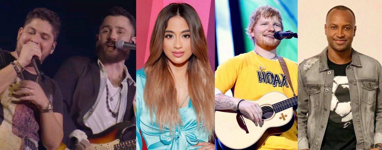 """Parceria potente de Ed Sheeran; single inédito de Jorge e Mateus; música sensual de Ally Brooke e versão inédita de Thiaguinho são destaques nos """"Lançamentos de Sexta"""""""