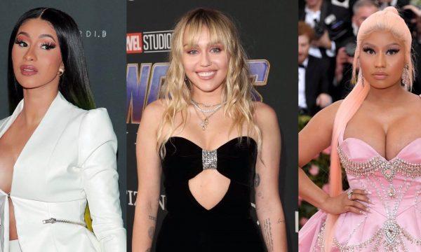 Miley Cyrus apresenta três músicas inéditas e causa ao mandar recado com nomes de Nicki Minaj e Cardi B!