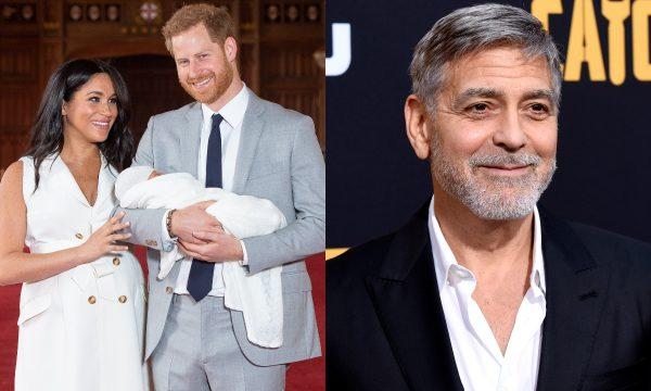 """Em entrevista, George Clooney reage a rumor de que será padrinho do filho de Meghan Markle e Príncipe Harry: """"Seria uma má ideia"""""""