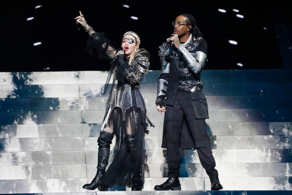 Provocou! Madonna arrasa na grande final do 'Eurovision' com performance politizada de 'Future', nova e ótima música com Quavo; vem assistir>