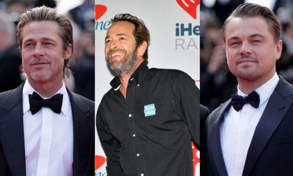"""Brad Pitt e Leonardo DiCaprio relembram """"borboletas no estômago"""" ao atuar com Luke Perry: """"Ele era incrível"""""""
